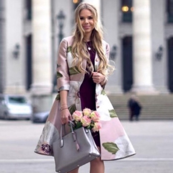 e1618d924 Sale Ted Baker Ottie chatsworth bloom dress coat
